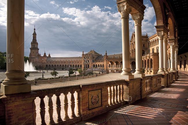Seville, Andalusia, Spain - January 26, 2016: Plaza de EspaÐa Square