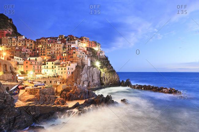 Italy, Liguria, La Spezia district, Riviera di Levante, Cinque Terre, Mediterranean sea, Ligurian sea, Ligurian Riviera, Parco Nazionale delle Cinque Terre, Manarola