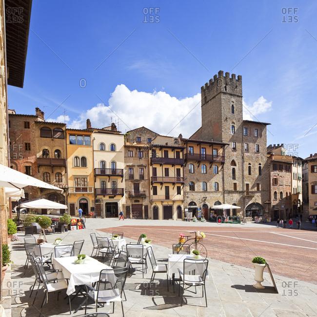 Tuscany, Italy - July 25, 2016: Piazza Grande
