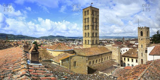 Panoramic view over the city of Arezzo