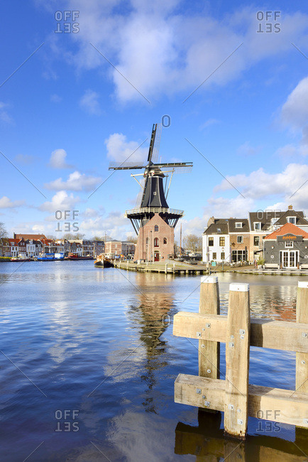 North Holland, Netherlands - August 12, 2016: Molen de Adriaan in Haarlem