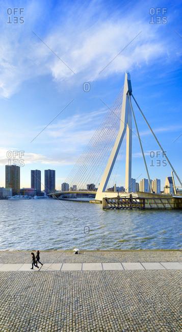 South Holland, Netherlands - August 12, 2016: Erasmus Bridge