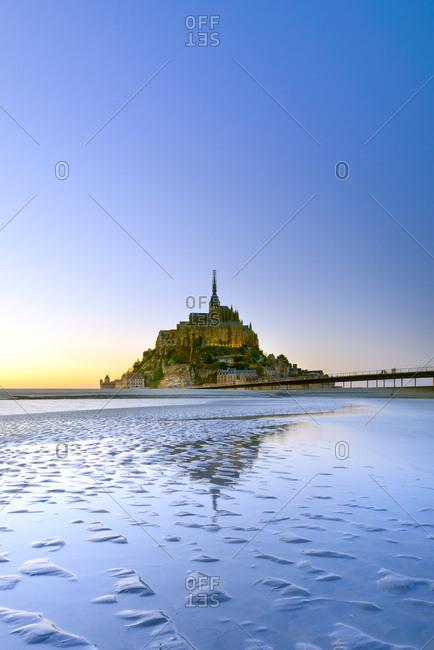 Mont Saint-Michel at low tides