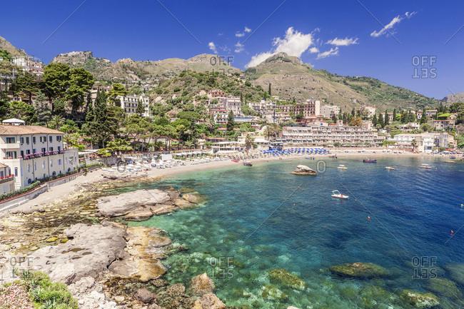 Italy, Sicily, Messina district, Taormina, Mediterranean sea, Mazzaro bay