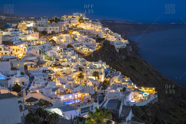 Night view of Firostefani
