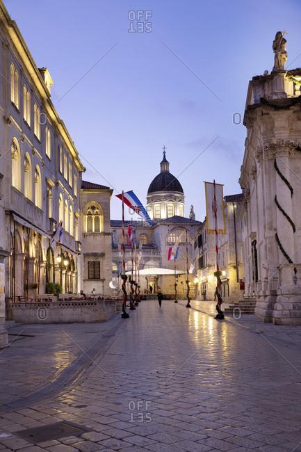 Dubrovnik, Dalmatia, Croatia - July 12, 2016: Festivities of Saint Blaise, The Cathedral of Dubrovnik