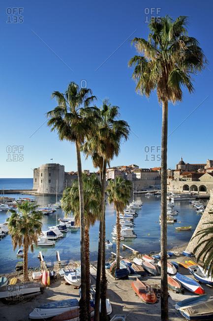 Dubrovnik, Dalmatia, Croatia - July 12, 2016: The Harbor