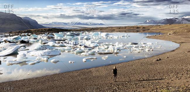 Breidarlon Lagoon at the south end of the glacier Vatnaj_kull