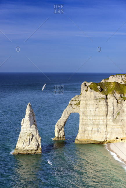 France, Normandy, ƒtretat, English Channel, Haute-Normandie, Seine-Maritime, Falaise d'Aval