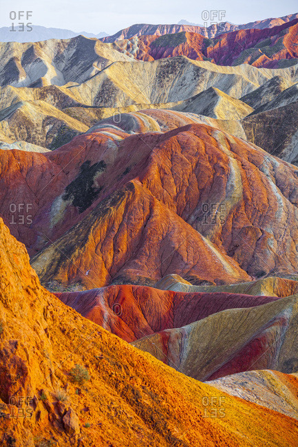 Amazing view of the rainbow mountains