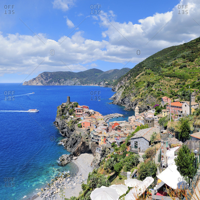 Liguria, Italy - July 27, 2016: Vernazza
