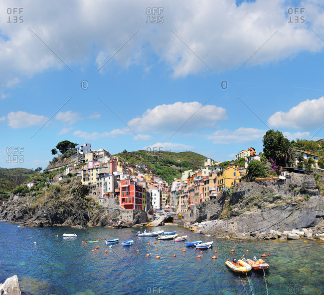 Liguria, Italy - July 27, 2016: Riomaggiore