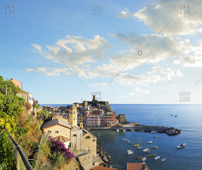 Liguria, Italy - July 27, 2016: Vernazza
