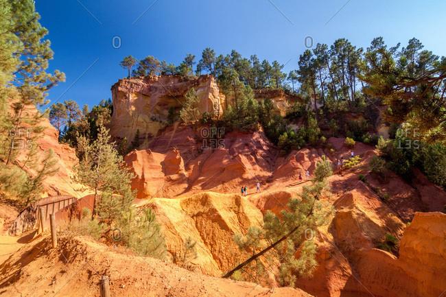 Roussillon,  France - September 28, 2016: Ochre mines