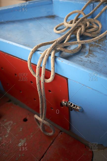 Boat at the Marina di Puolo locality
