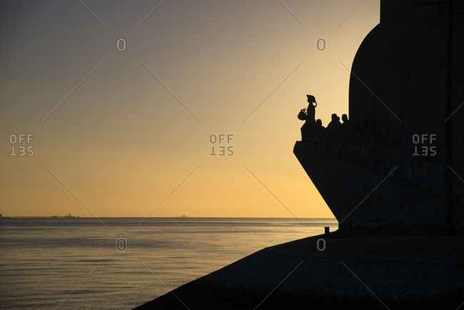 The Monument to the Discoveries at sunset