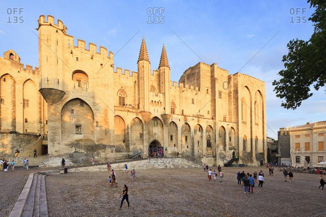 Avignon, France - September 17, 2016: Pope's Palace, Palais des Papes