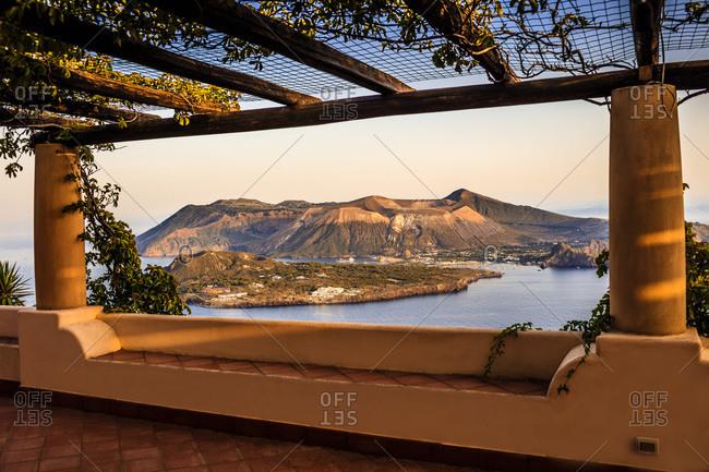 View from lipari, Vulcano island.