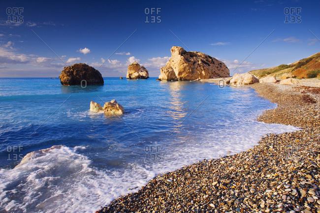 Petra Tou Romiou beach a.k.a. Aphrodite birthplace
