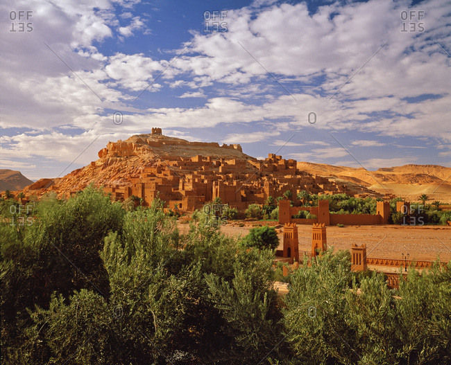 The most famous of Morocco kasbahs, near Ouarzazate, at the foot of the Atlas mountains