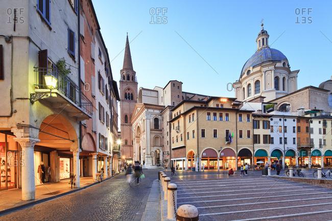 Mantua, Italy - December 15, 2016: Piazza delle Erbe