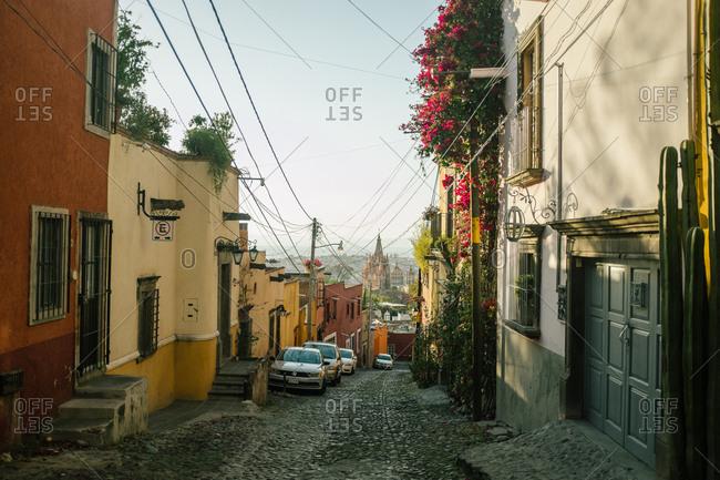 City street in san Miguel de Allende