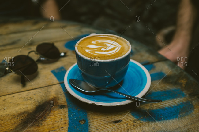 Latte on a table