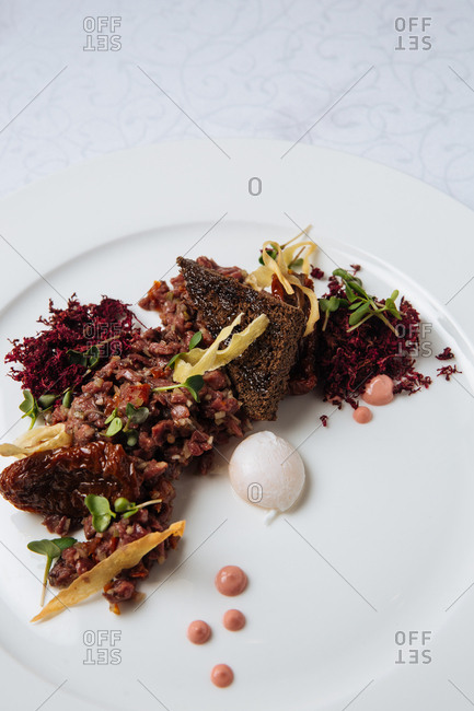 A steak tartar dish