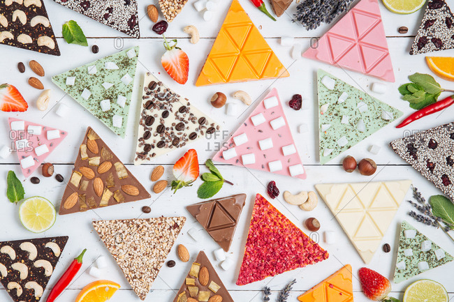 Chocolates in triangle shapes