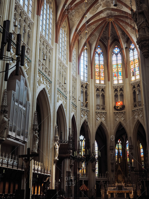 Amsterdam, Netherlands - July 17, 2015: Interior of a church