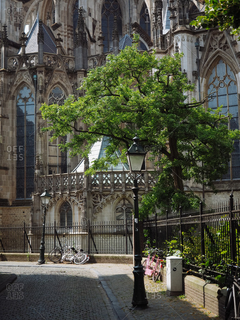 Amsterdam, Netherlands - July 17, 2015: Exterior of a cathedral