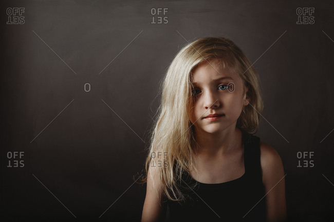 Portrait of a beautiful blond young girl