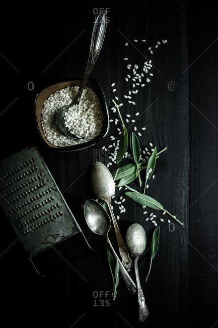 Risotto with sage leaves - Offset