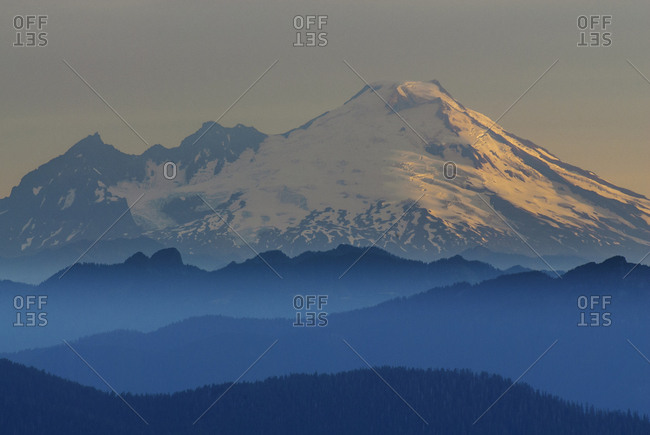 Snowcapped mountain against clear sky