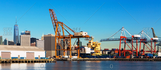 USA, New York State, New York City, Commercial dock