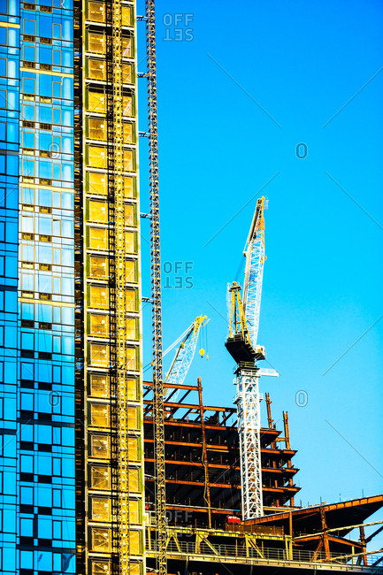USA, New York State, New York City, Skyscraper under construction