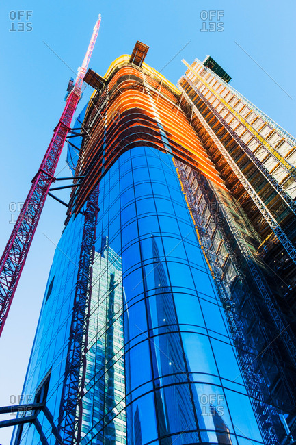 New York City, New York State, USA - January 15, 2017: Skyscraper under construction