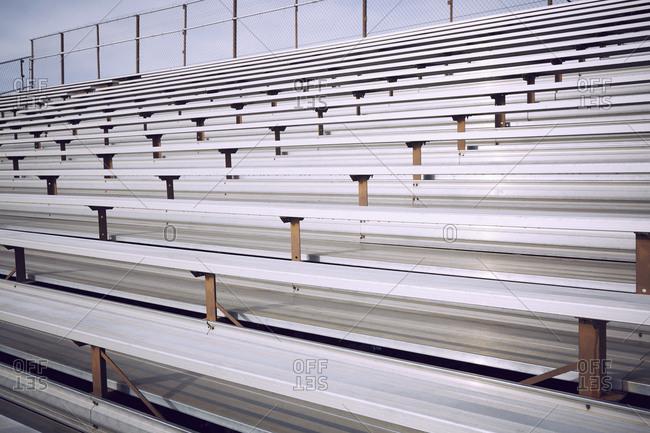 Empty bleacher in stadium