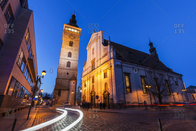 Czech Republic, St. Nicholas Cathedral in Ceske Budejovice