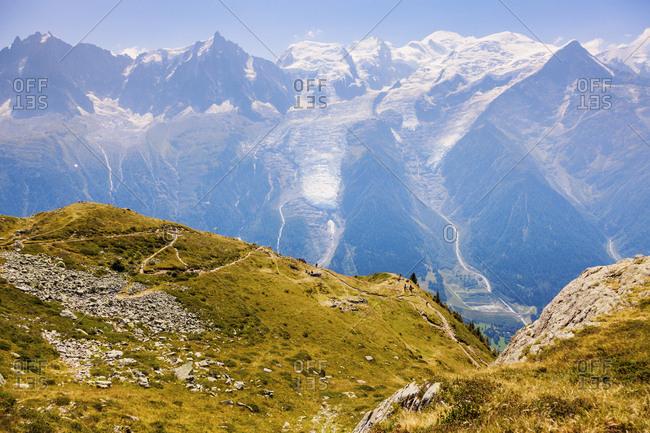 France, Auvergne-Rhone-Alpes, Chamonix, Alpes peaks in Chamonix area
