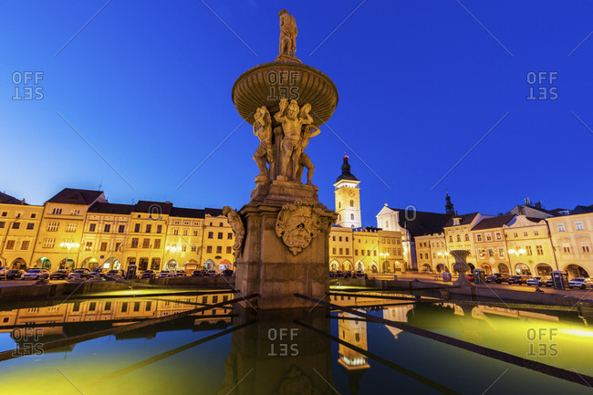Czech Republic, Bohemia, Ceske Budejovice Budweis, Main Square of city