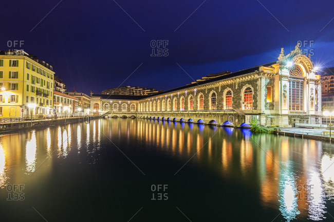 Switzerland, Geneva, Batiment des Forces motrices - old power plant in Geneva