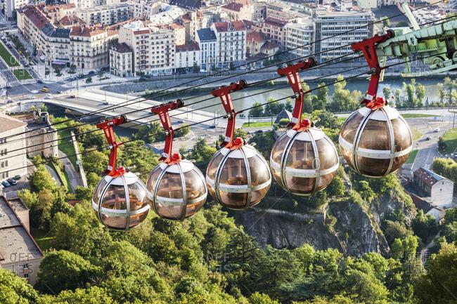 France, Auvergne-Rhone-Alpes, Grenoble, Grenoble-Bastille cable car