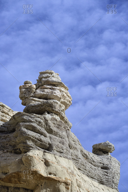 USA, New Mexico, Abiquiu, Limestone rock formations