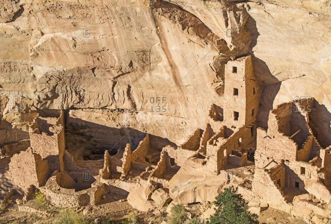 ... Colorado, Square Tower House Pueblo Ruin Seen From Wetherill Mesa In  Mesa Verde