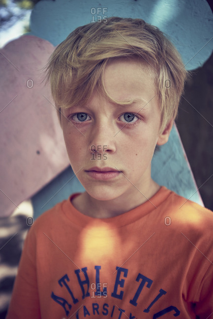Portrait of serious boy