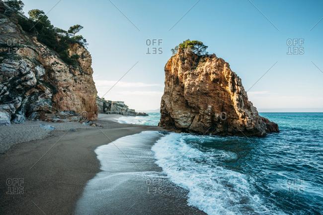 Beach landscape of Illa Roja beach in Begur, Costa Brava, Spain,