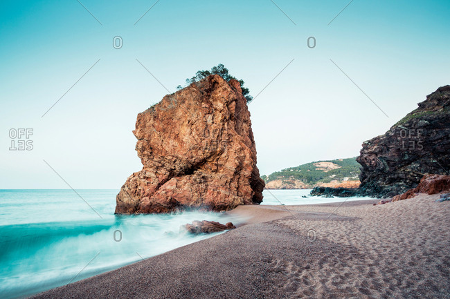 Beach landscape of Illa Roja beach in Begur, Costa Brava, Spain,
