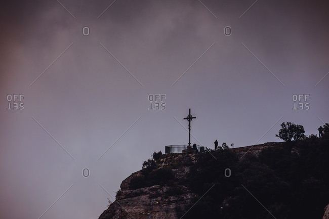 Cross in the mountains, Montserrat