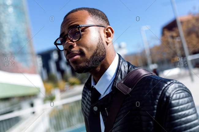 Handsome stylish man posing